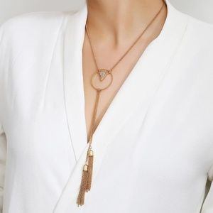 NEW gold geommetric necklace